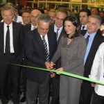 Greek Tourism Minister Olga Kefalogianni and the CEO of HORECA's organizer FORUM, Nikos Houdalakis cutting the inauguration ribbon of the 8th HO.RE.CA. International Exhibition among professionals of the Greek food service and hospitality sectors.