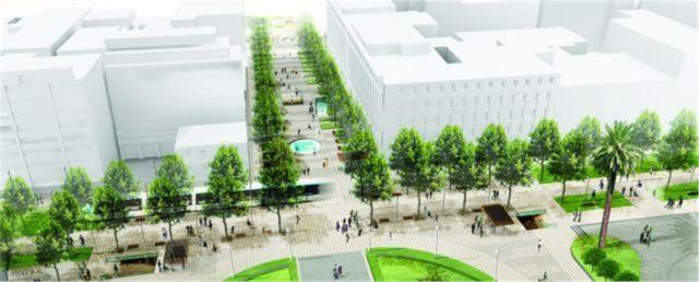"Panepistimiou and Korai Streets - ""One step beyond"" proposal by Okra."