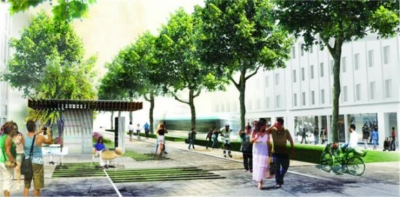 "Panepistimiou Street - ""One step beyond"" proposal by Okra."