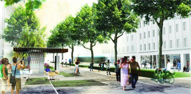 "Panepistimiou Street - ""One step beyond"" proposal by Okra."