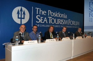 Archive photo of panelists at the 1st Posidonia Sea Tourism Forum in 2011.