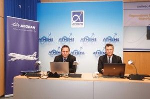 Vice President of Aegean Airlines Eftichios Vassilakis and CEO of Athens International Airport Dr. Yiannis Paraschis.