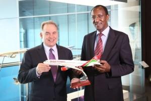 Etihad Airways President and CEO James Hogan and Kenya Airways MD and CEO Dr.Titus Naikuni.