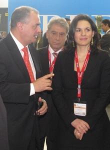 GNTO Secretary General Panos Livadas and Greek Tourism Minister Olga Kefalogianni.
