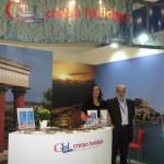 Cretan Holidays - Simone Lehnigk, product manager BEEINNET.com Individual Holidays and Kostas J. Badouvas, hotel purchasing supervisor.