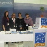 Hellenic Association of Travel & Tourist Agencies (HATTA) - From right: Frini Alexiou, HATTA representative (right) with Maria Theofanopoulou, member of HATTA's Board of Directors; Nikie Bakopoulou, NIBAK S.A.; and Tassiu Sofia, counter departments at Antaeus Travel.