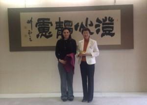 Greek Tourism Minister Olga Kefalogianni and Mayor of Sendai City Emiko Okuyama.