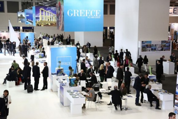 The Greek pavilion at ITB Berlin 2013.
