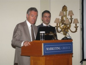 Marketing Greece's president, Andreas Andreadis, and general manager, Iosif Parsalis.