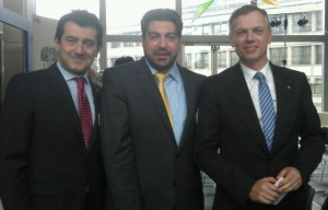 Costa Crociere President Gianni Onorato, Heraklion Port Authority President and CEO Ioannis Bras and Costa Crociere CEO Michael Thamm.