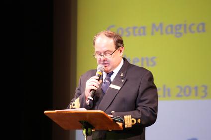 Captain of the Costa Magica, Mario Moretta.
