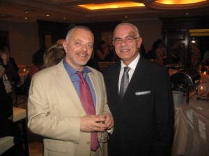 Hellenic-American Chamber of Tourism President George Trivizas and Greek Secretary General of Tourism Anastasios Liaskos at the reception that followed the chamber's media event.