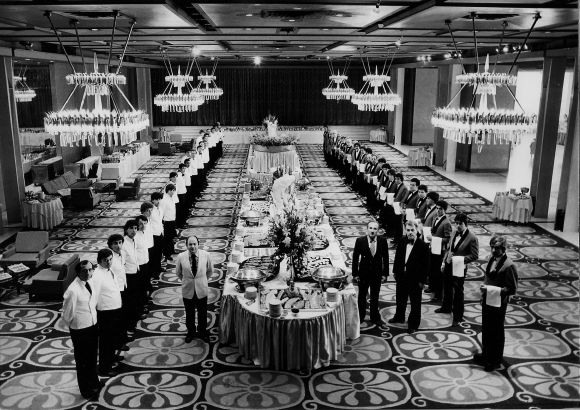The Hilton Terpsichore ballroom in the '70s.