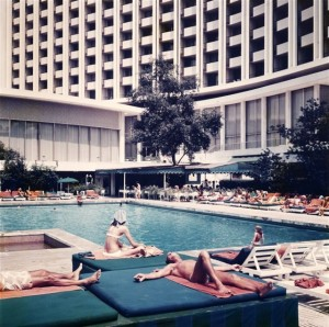 The Hilton Athens pool area in the '70s.