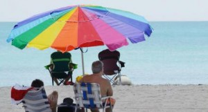gay umbrella_beach