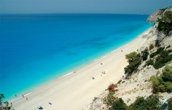 Egkremni Beach, Lefkada.