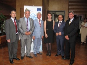 Chamber of Xanthi President Stelios Moraitis (second from left) with members of the chamber and tourism professionals.
