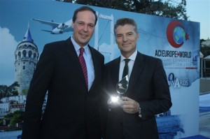 Eurocontrol General Director Frank Brenner with Athens International Airport General Manager Yiannis Paraschis.