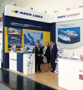 ANEK LINES' deputy director of commercial operations, Anthonis Kalamaras; marketing director, Irina Simou; and deputy commercial director of Attica Group's international routes, Yiorgos Panagiotidis.