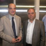 AirFrance-KLM's Giorgos Zermas, sales director Greece and Travelport's Leonidas Zotos, country manager.