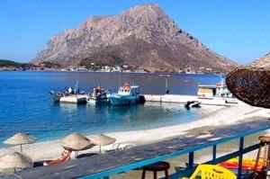 Babis beach bar on Kalymnos.