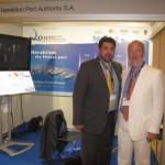 Heraklion Port Authority President and CEO Yiannis Bras with Piraeus Port AUthority General Manager Stavros Hatzakos.