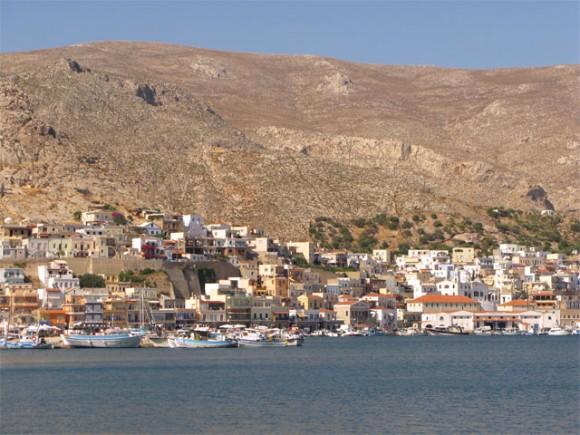 Pothia, the capital town of Kalymnos island