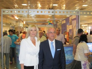 Vice governor of the South Aegean region, Eleftheria Ftaklaki, and the secretary general of the Greek Tourism Ministry, Tasos Liaskos.