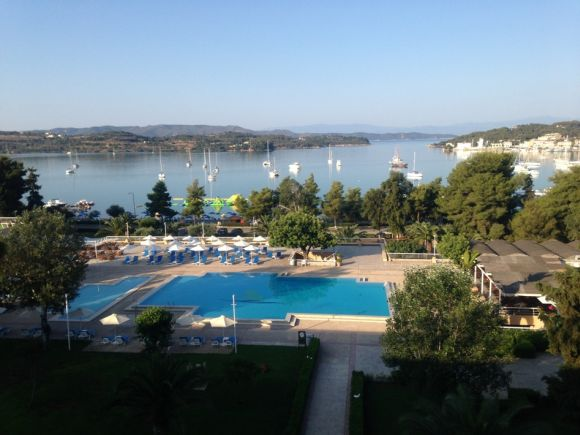 View from the AKS Porto Heli hotel.