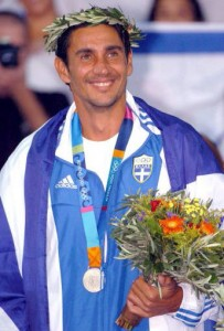 Greek Olympic Champion Nikos Kaklamanakis.
