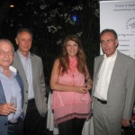 Dinos Frantzeskakis (Aeromexico), Dimitris Vernezos (American Express), Maria Alifragi (Signature Travel) and Spyros Mantzios (American Express).