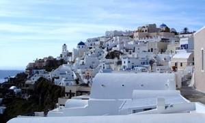 Imerovigli on Santorini.