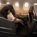 First Class -  Singapore Airlines' new First Class seat, set in a modern, welcoming cabin, offers customers enhanced comfort in their own personal sanctuary.