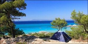 Free camping is banned in Greece.