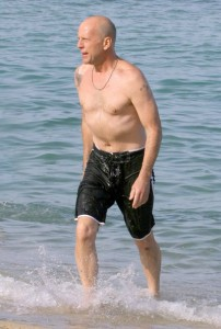 Brude willis naked on beach