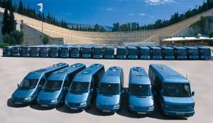 The fleet of Maroulis Travel.