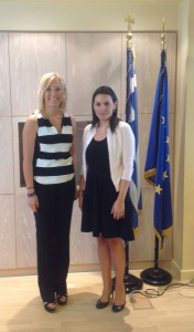 South Aegean Region Vice Governor Eleftheria Ftaklaki and Tourism Minister Olga Kefalogianni