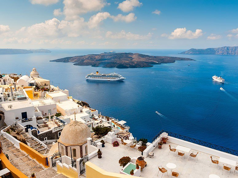 Santorini. Photo: Condé Nast Traveler