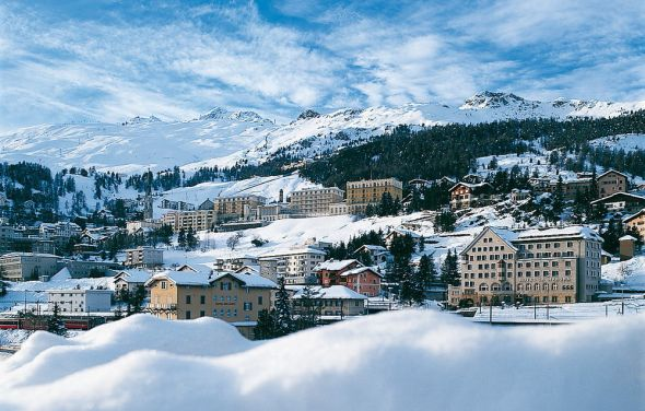 St. Moritz in the winter.