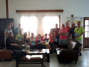 UK travel agents during a familiarization trip in Halkidiki.