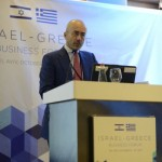 "Tel Aviv: Israel-Greece Business Forum, Yannis Papadopoulos, CEO, ATTICA Ventures delivered a speech on ""How to invest in Greece."""