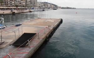 Volos Port - Floating platform.