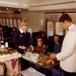 80 years: Serving the starter on board a B747 (1st cabin interior).