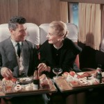 80 years: A couple dining on board the Lockheed Super Constellation.