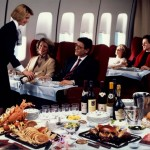 80 years: Meal service on board a Boeing 747.
