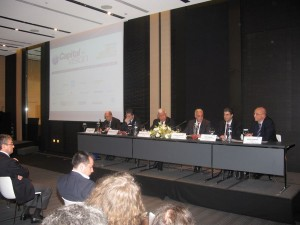 Akis Sklavos, the investment manager at Invest in Greece Agency (second from right) informs on Greece's latest fast-track investments.