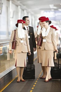 Emirates Walking Cabin Crew