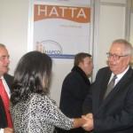 HATTA President Yiorgos Telonis greets Greek Tourism Minister Olga Kefalogianni.