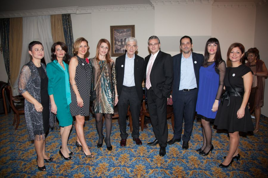 Pictured is the Mediterranean Palace group with Thessaloniki Mayor Yiannis Boutaris (center): Katerina Toutziari,  Chrysa Tsountali, Maria Hatziparaschi, Glyka Dedeoglou, Yiannis Aslanis (general manager), Spyros Peggas (Thessaloniki Deputy Mayor, Rafaela Tzikou and Dora Stathopoulou.