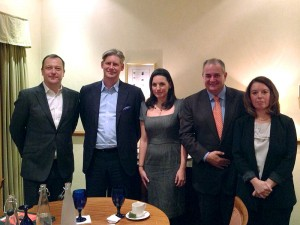 Greek Tourism Minister Olga Kefalogianni (center) and GNTO Secretary General Panos Livadas (second from right) with TUL representatives Garry Wilson, Johan Lundgren and Antonia Bouka.